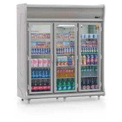 Balcao Refrigerado Gevp-3p Cinza Expositor Vertical 3 Portas 1,83Mt 127V - Gelopar