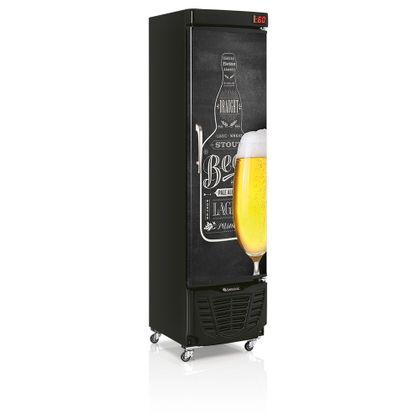 Cervejeira Grba-230e 228 Litros Porta Cega Adesivada Qc 127V - Gelopar