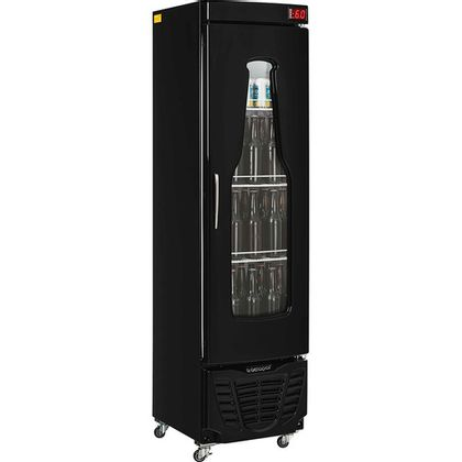 Cervejeira Grba-230evc 228 Litros Porta Carenada Preta 220V - Gelopar