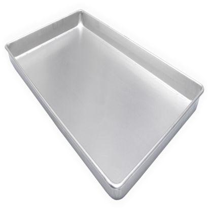 Assadeira De Pao Doce Plana Lisa Aluminio Estampada 60X40x3,5 Cm - Imeca