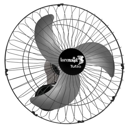 Ventilador De Parede 60Cm Tufao Preto M1 Bivolt - Loren Sid