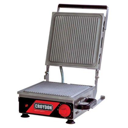 Sanduicheira Eletrica Mirim Simples Aluminio Estriada Spse 27X27cm 1800W 127V - Croydon