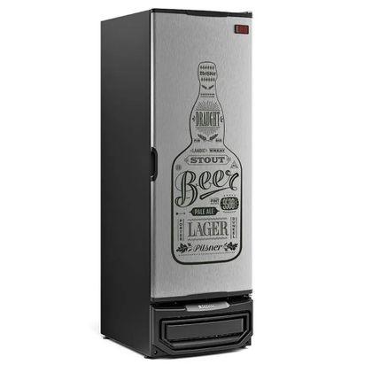 Cervejeira Grb-57p 572 Litros Porta Cega Adesivada Gw Tipo Inox 220V- Gelopar