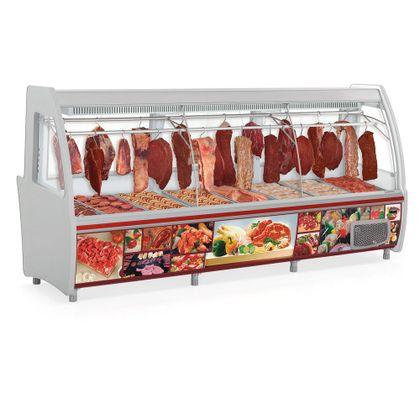 Balcao Refrigerado Acougue Pop Gcpc-310d Cz Tendal Duplo C/dep 127V - Gelopar