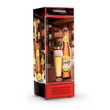 Cervejeira Vcc600s Porta Cega Adesivada Bar Vermelha 220V - Refrimate