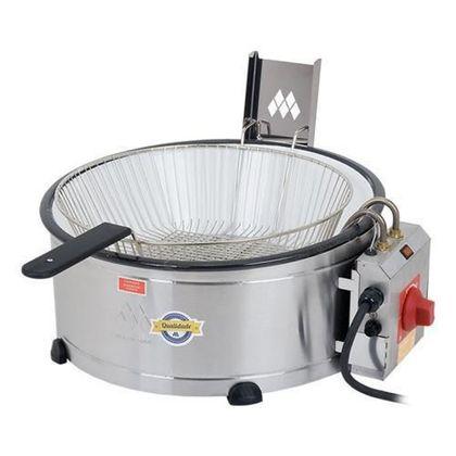 Tacho Fritador Eletrico Inox Com Tacho Esmaltado Th-1701 7,5 Litros 110V - Marchesoni