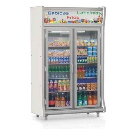 Balcao Refrigerado Gevp-2p Cinza Expositor Vertical 2 Portas 1,27 Metros 127V - Gelopar