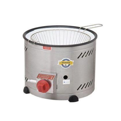 Tacho Fritador A Gas Inox Com Tacho Esmaltado Th-1.318 3,5 Litros - Marchesoni