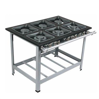 Fogao 6 Bocas M-15 Q/d Super Luxo 40X40 Perfil 9Cm Porta Panela C/cozinha - Metalmaq