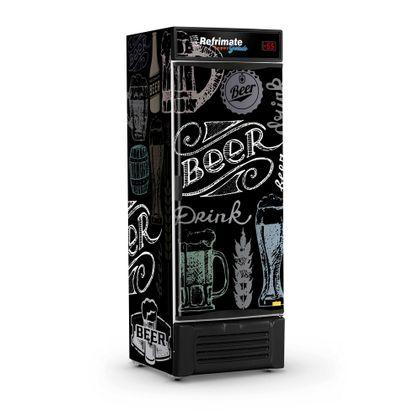 Cervejeira Vcc600s Porta Cega Artesanal Preta 127V - Refrimate