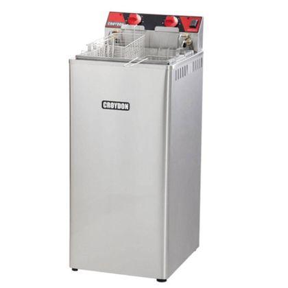 Fritadeira Eletrica Com Gabinete Zona Fria Fz28 15 Litros 220V - Croydon