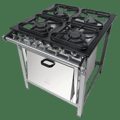 Kit Fogao 4B M-14 M/m S2020 30X30 Perfil 5Cm C/ Forno - Metalmaq