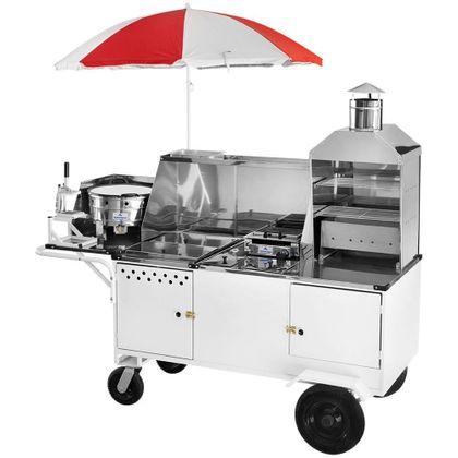 Carrinho Completo 5X1 Hot Dog + Lanche + Churrasco Com Reservatorio Chls-4r-023 - Armon