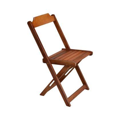 Cadeira Dobravel Retro Madeira Mel Encosto Reto - So Mesas So Cadeiras