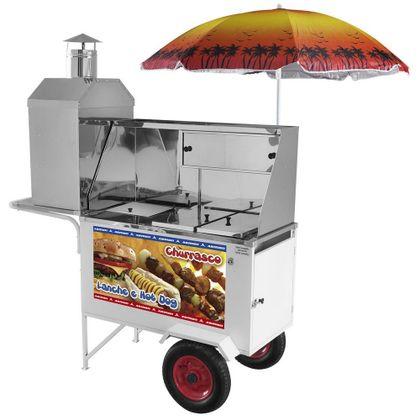 Carrinho Combinado Hot Dog + Lanche + Churrasco Chlcl-012 - Armon