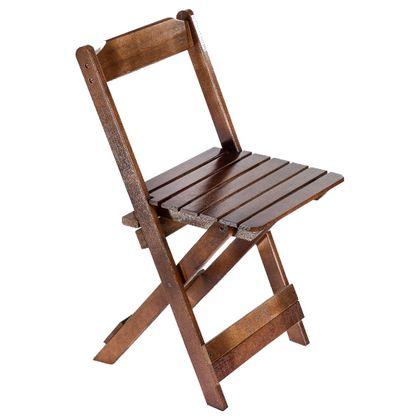 Cadeira De Madeira Dobravel Imbuia - Maplan