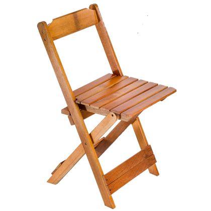 Cadeira De Madeira Dobravel Mel - Maplan