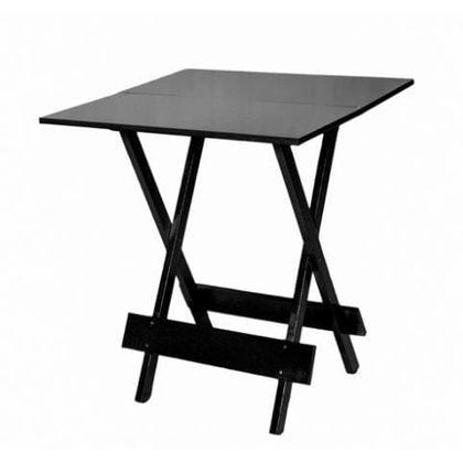 Mesa Dobravel 2 Partes Madeira Preta 70X70cm - So Mesas So Cadeiras