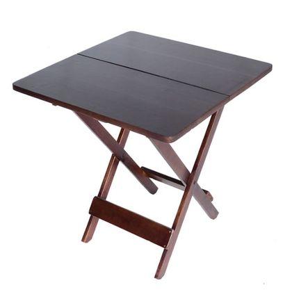 Mesa Dobravel 2 Partes Madeira Imbuia 60X60cm - So Mesas So Cadeiras