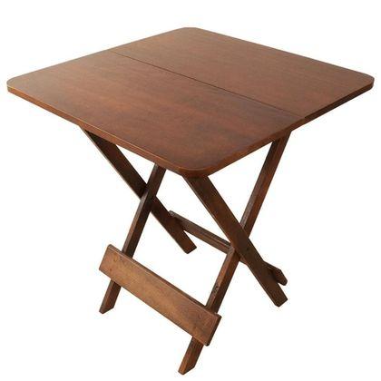 Mesa Dobr Retro 2P Madeira Ripada 70X70m Imbuia- So Mesas So Cadeiras