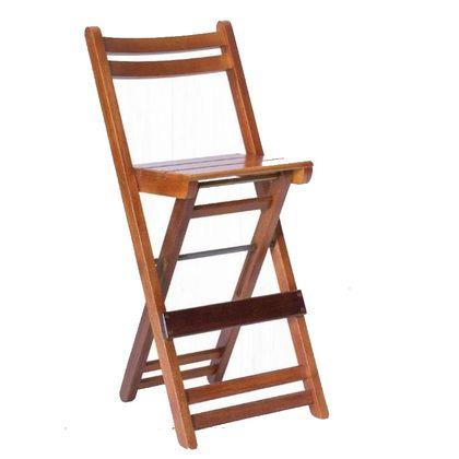 Banqueta Alta Dobravel Mel Com Encosto Anatomico - Só Mesas Só Cadeiras