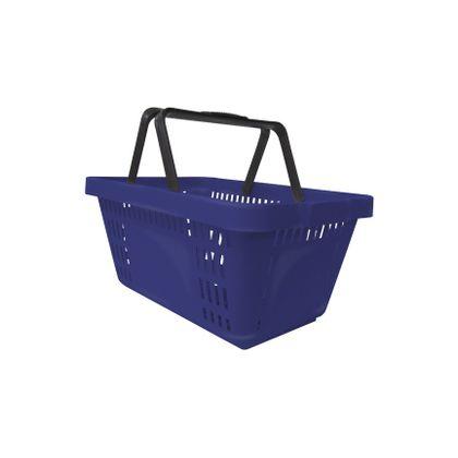 Cesta De Supermercado Plastica Azul - Navona
